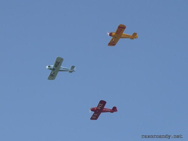 2 P1130827 Druine D.31 Turbulent {G-ARGZ} {G-APVZ} {G-ARBZ} _ City Airport - 2009 (4th July)