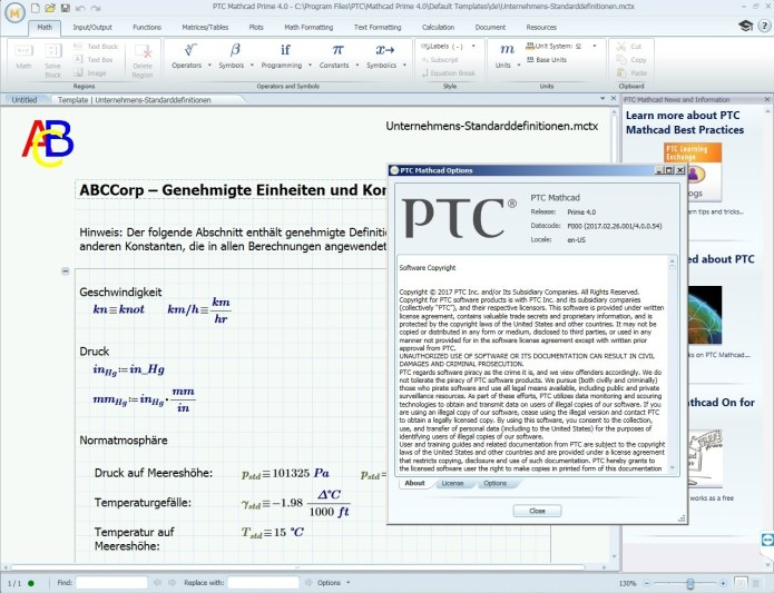 working with PTC Mathcad Prime 4.0 F000 full crack