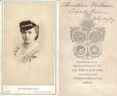 Christine Nilsson bust by Reutlinger