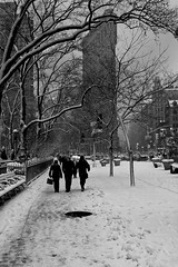 Flatiron Building in snow