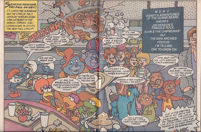 NBC Saturday morning cartoons ad, 1987