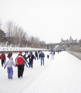 Ice Skating on the Rideau Canal