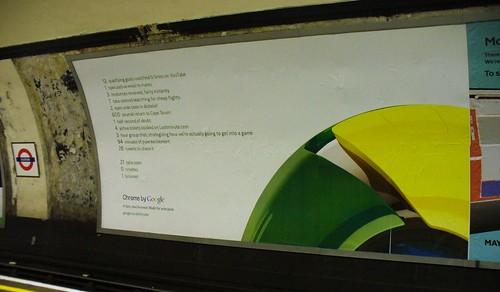 euston google chrome poster advert