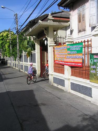 Bangkok, temple, cycling
