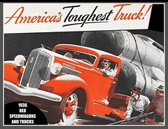 Vintage truck ad, 1936, REO Speedwagon