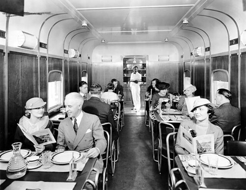 Milwaukee Road diner car interior