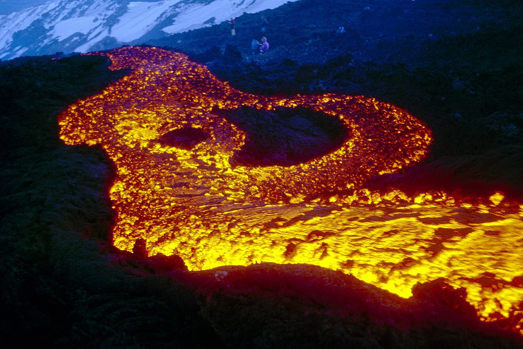 Lava flow on Etna, 11 March 1999