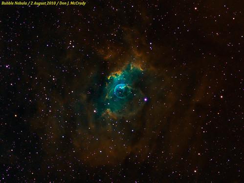 The Bubble Nebula (narrowband)