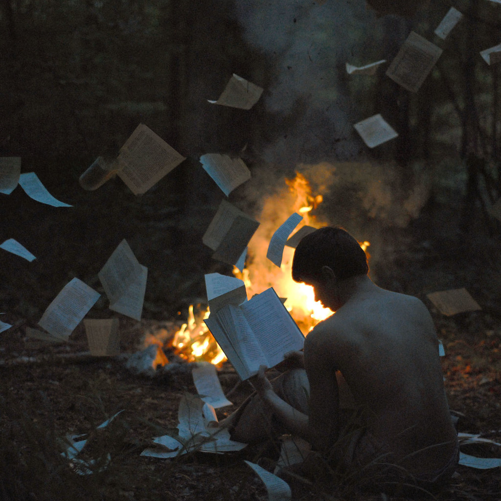 The book burning.