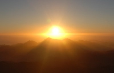 sunrise from Mount Sinai, Egypt