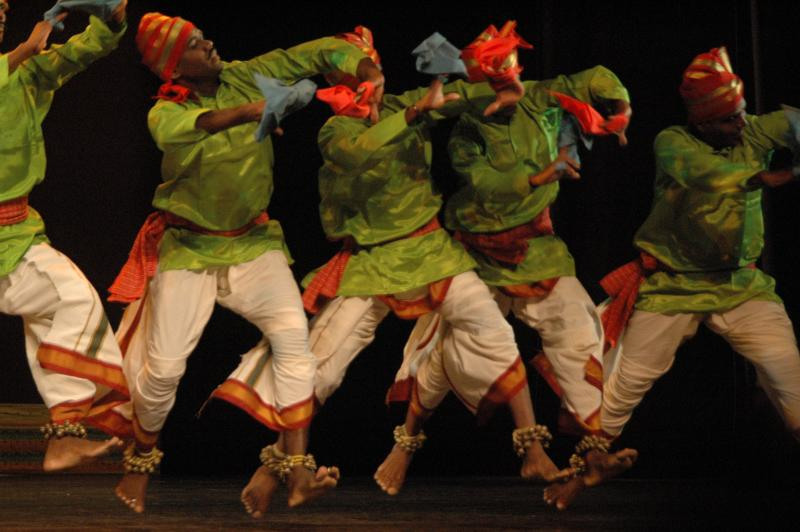 Vibrant folk dance from Tamilnadu, India