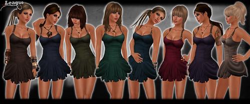 *League* Hitch Dresses -Colours