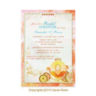 Princess Carriage:Custom Bridal Shower Invitations