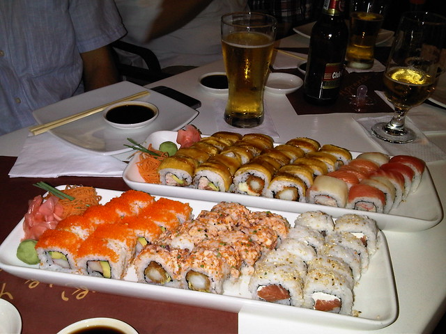A selection of rolls at Sushi Light