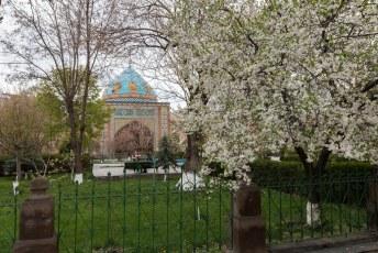 Ik liep via de blauwe moskee.....
