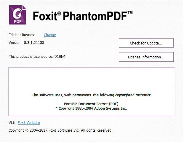 Foxit PhantomPDF Business 8 v8.1.1.1115 Final full software