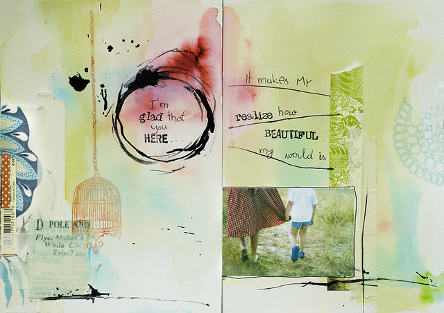 91/365 :: art journal :: I'm glad that you here...