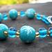 The Turquoise Snowflake Christmas Bracelet