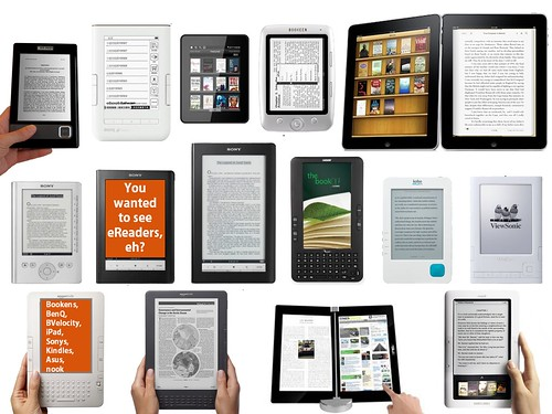 eBook Readers Galore di libraryman, su Flickr