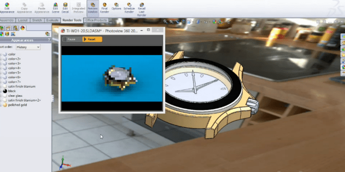Rendering with solidworks 2014