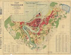 Bruns kart over Trondhjem med byggebelte (1925)