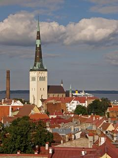 view over old town Tallinn, Estonia