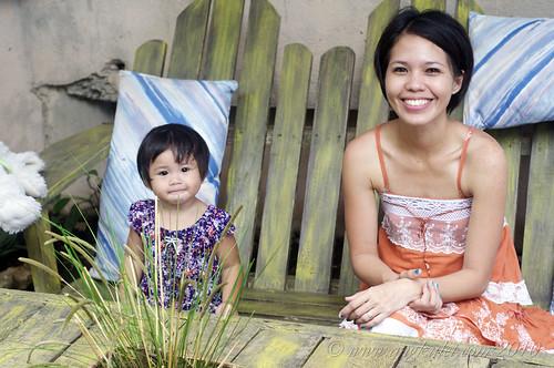 Lia and her Mama at Bohol Bee Farm