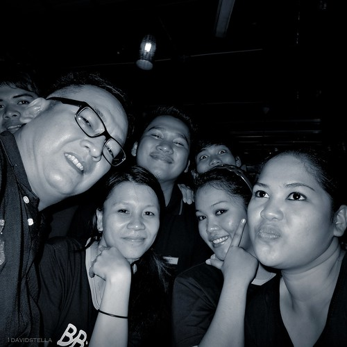 friends at BB Cafe, Gaya Street, Kota Kinabalu