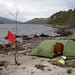 Camping on the shores of Loch Affric