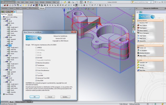 Delcam v20.7.0.29 for SolidWorks full license
