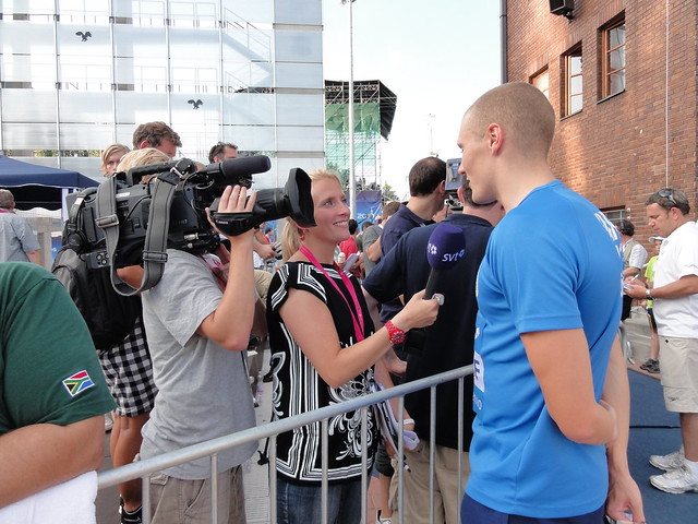 Pál being interviewed by Swedish media at Budapest 2010