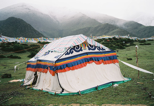 Tent Near Drikung Til Sky Burial Site