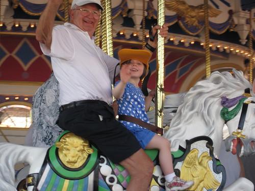 Elise & Pop-Pop on the Carousel