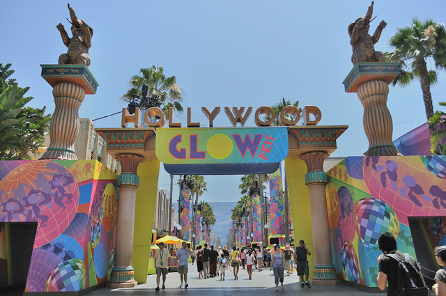Entrance to Glow Fest