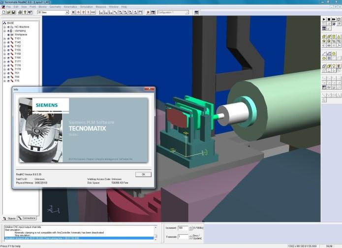 Machining with Siemens Tecnomatix RealNC 8.6.0 Win32-64 full license