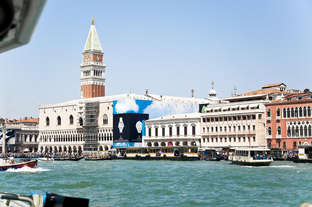 Venice as seen from a Vaporetto