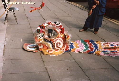 Dancers, Chinese New Year, Manchester, 1985