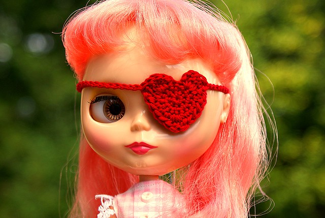 Heart Eyepatch Bright