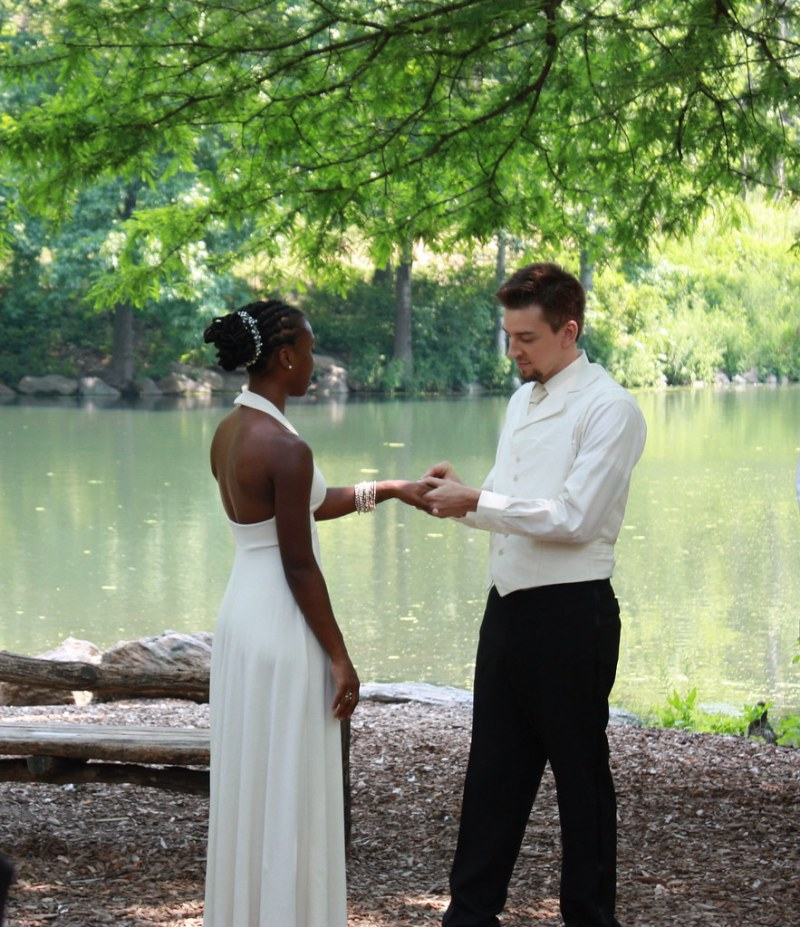 ring and vow exchange