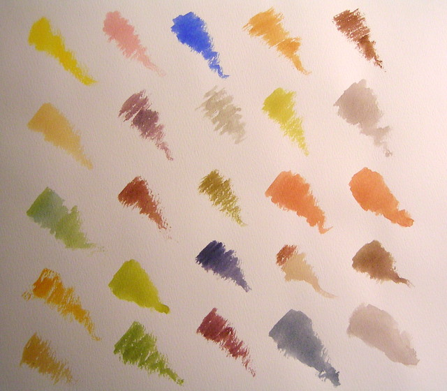 Watercolor Palette Derived From Five Colors