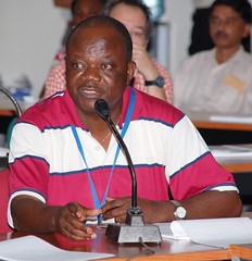 Manyong during a seminar session in IITA