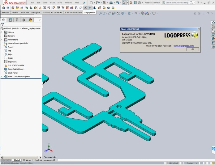 Design with Logopress3 2015 SP0.7 for SolidWorks 2013-2016 x64 full license