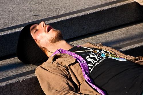 Asleep On The Steps