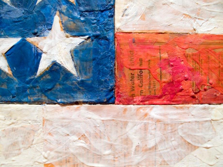 Image result for close up of Jasper Johns flag