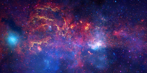 NASA's Great Observatories Examine the Galactic Center Region - The core of the Milky Way at a distance of some 26,000 light years from Earth.