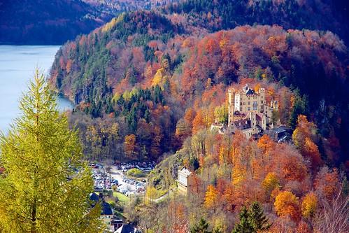 Schloss Hohenschwangau from Schloss Neuschwanstein