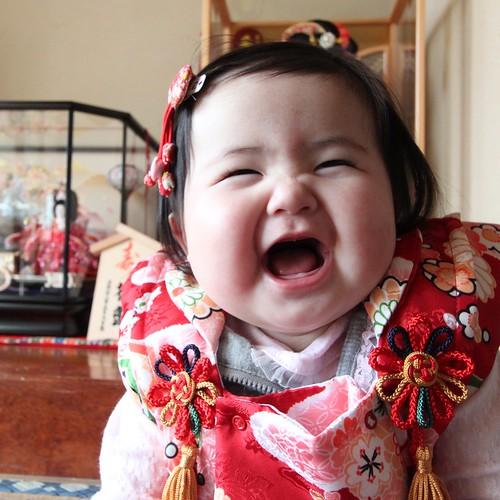 Japanese Baby Girl celebrating Hina Matsuri (Girls' Day)