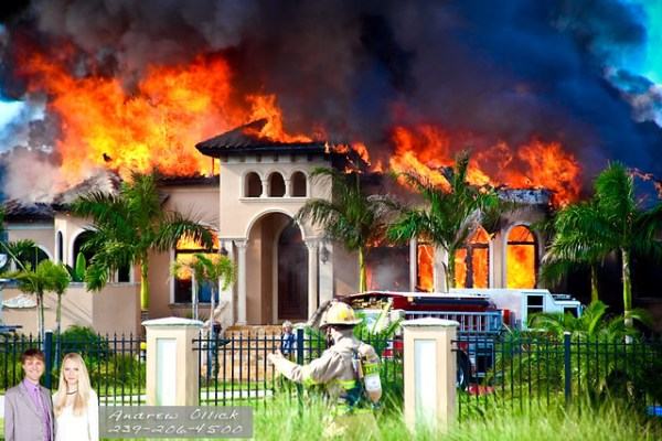 "Golden Gate Estates Luxury Home on Fire | "" Fire tore t ..."