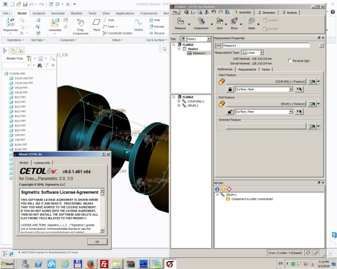 Working with Sigmetrix Cetol 6 v9.0.1 for PTC Creo 2.0-3.0 64bit full crack