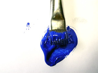 paint in blue